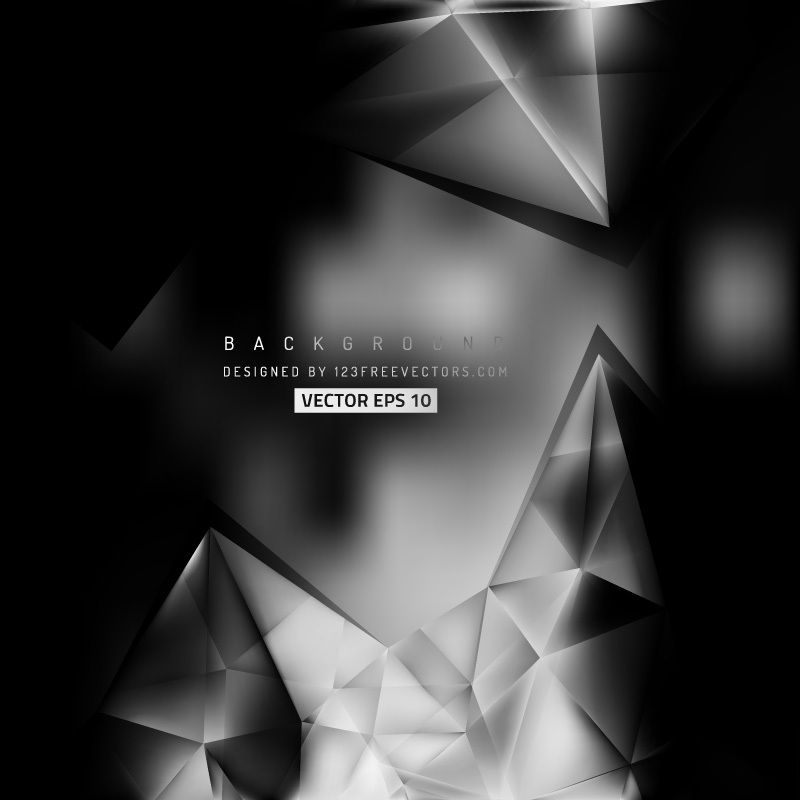 Abstract Black And Gray Geometric Triangle Background Template