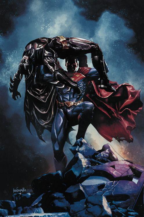"Superman vs Batman ""Injustice-Gods Among Us"" by Mico Suayan"