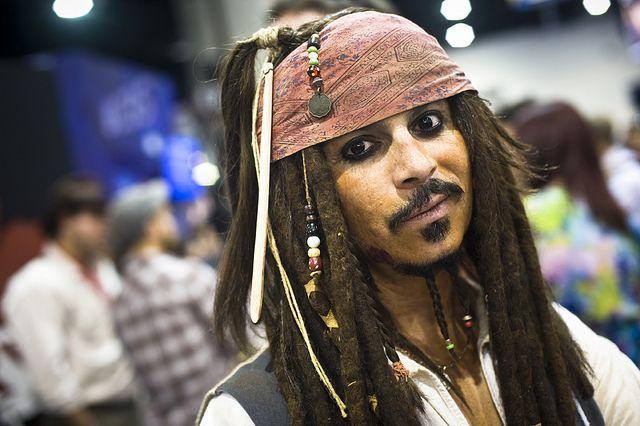 Comic-Con '10 – Captain Jack Sparrow by Onigun, via Flickr