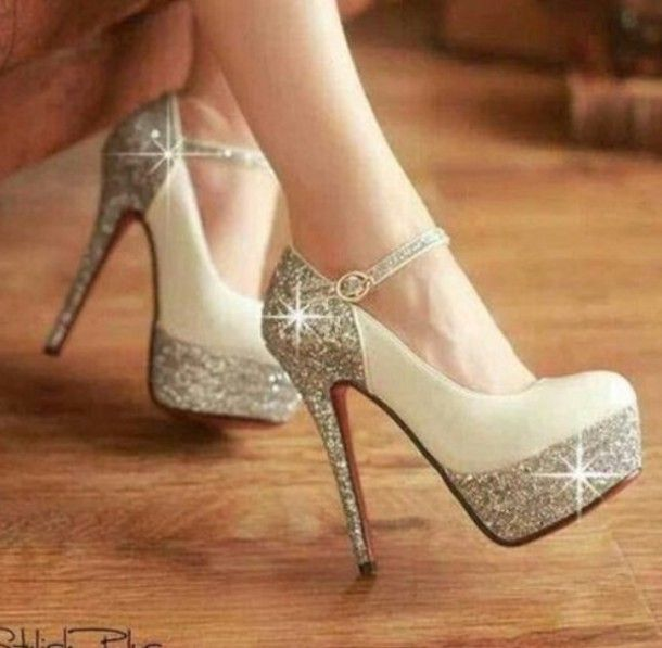 1000  images about cute shoes on Pinterest | Glitter high heels ...