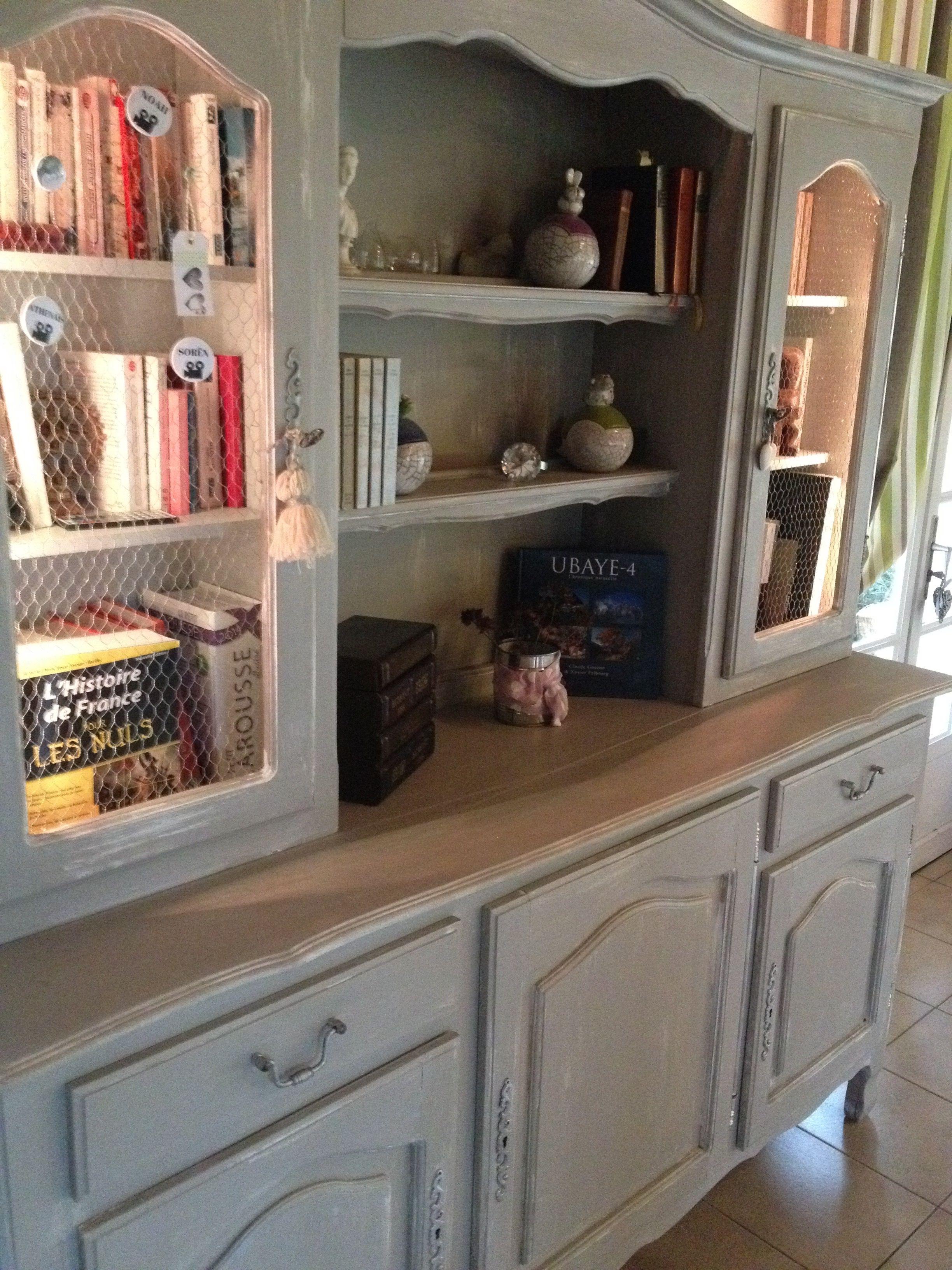relooking shabby gustavien campagne chic d 39 un vaisselier. Black Bedroom Furniture Sets. Home Design Ideas