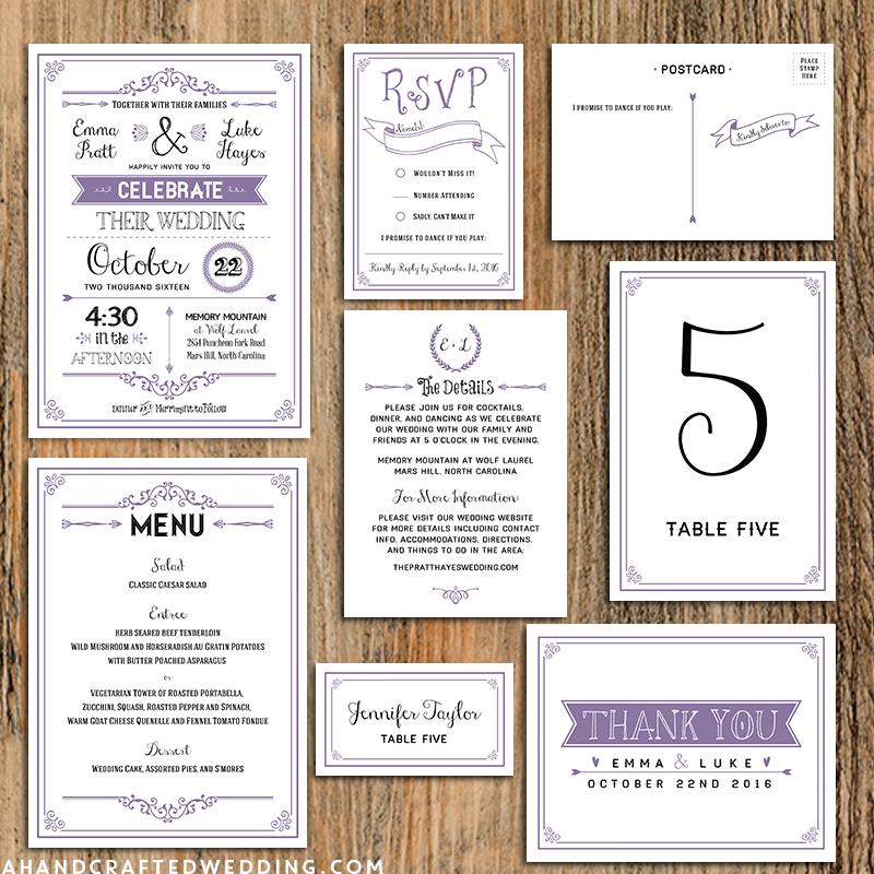 Printable Wedding Invitation Sets: FREE Printable Wedding Program