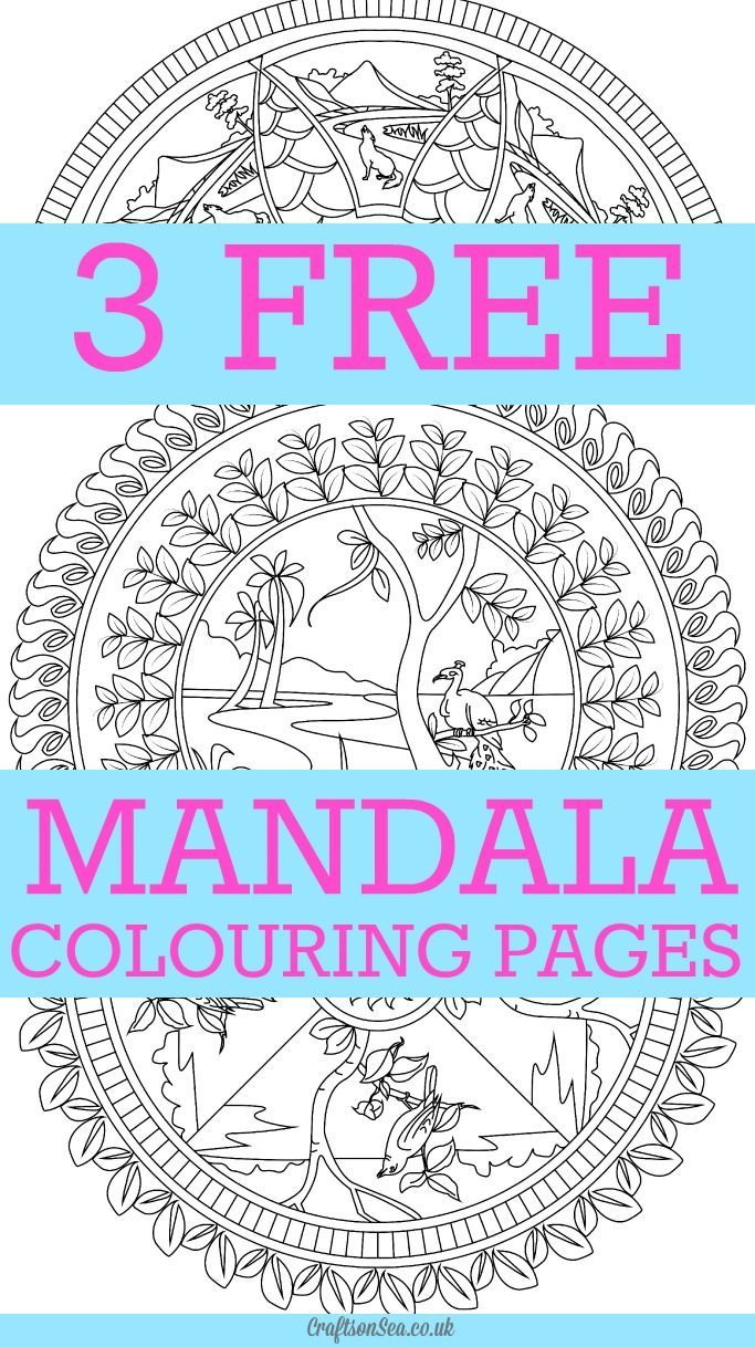 Beautiful Free Mandala Colouring Pages For Adults Download 3 Designs From The Artdala Book Relaxing With Nature And Animals