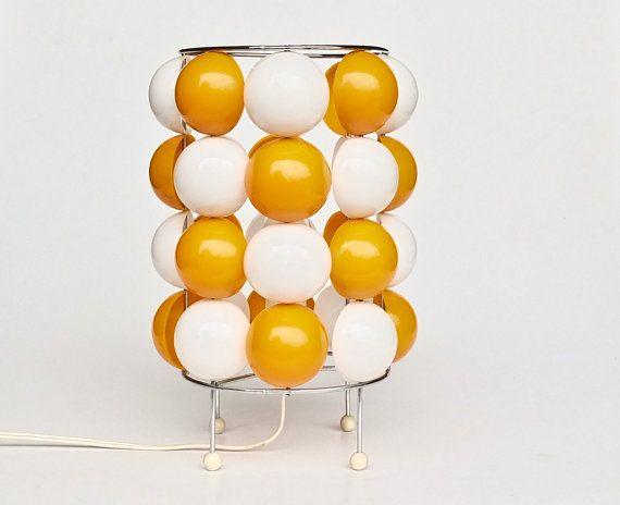 Mid Century Modern Table Lamp /  Verner Panton Style Atomic Lighting / 70's Space Age Retro Decor