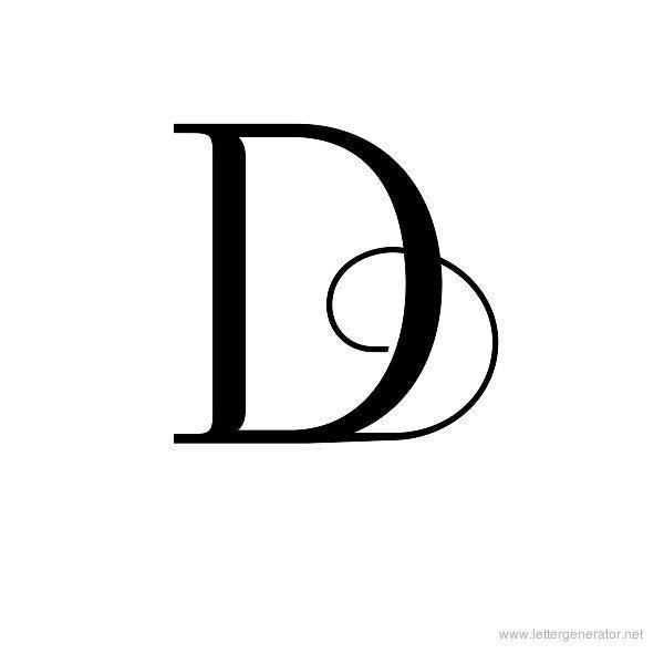 Foglihten No04 Printable Decorative Alphabet Letter D Logo