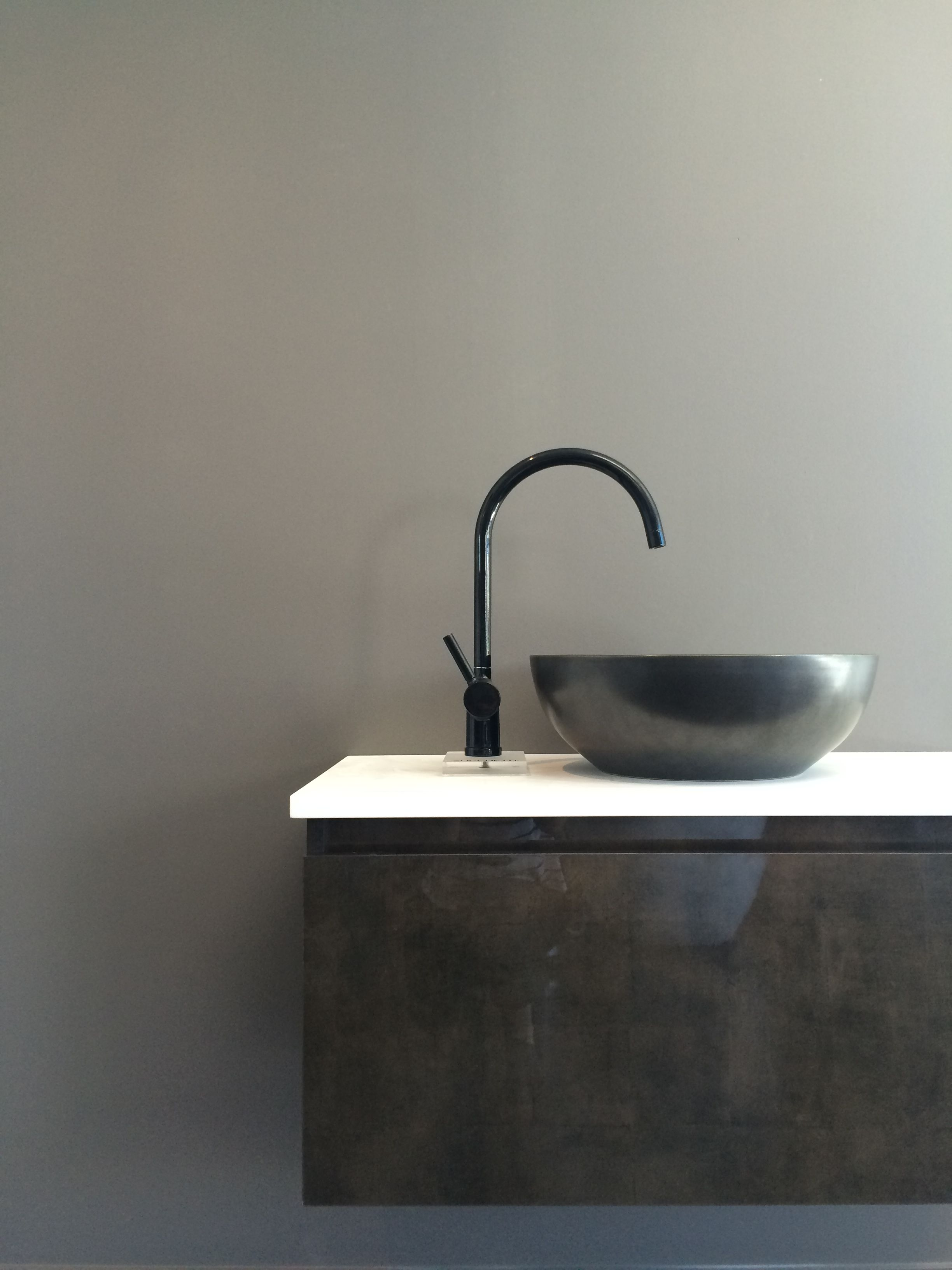 Bagnodesign Basin Taps Robertson Auckland Showroom Pan Mixer In Black By Zucchetti