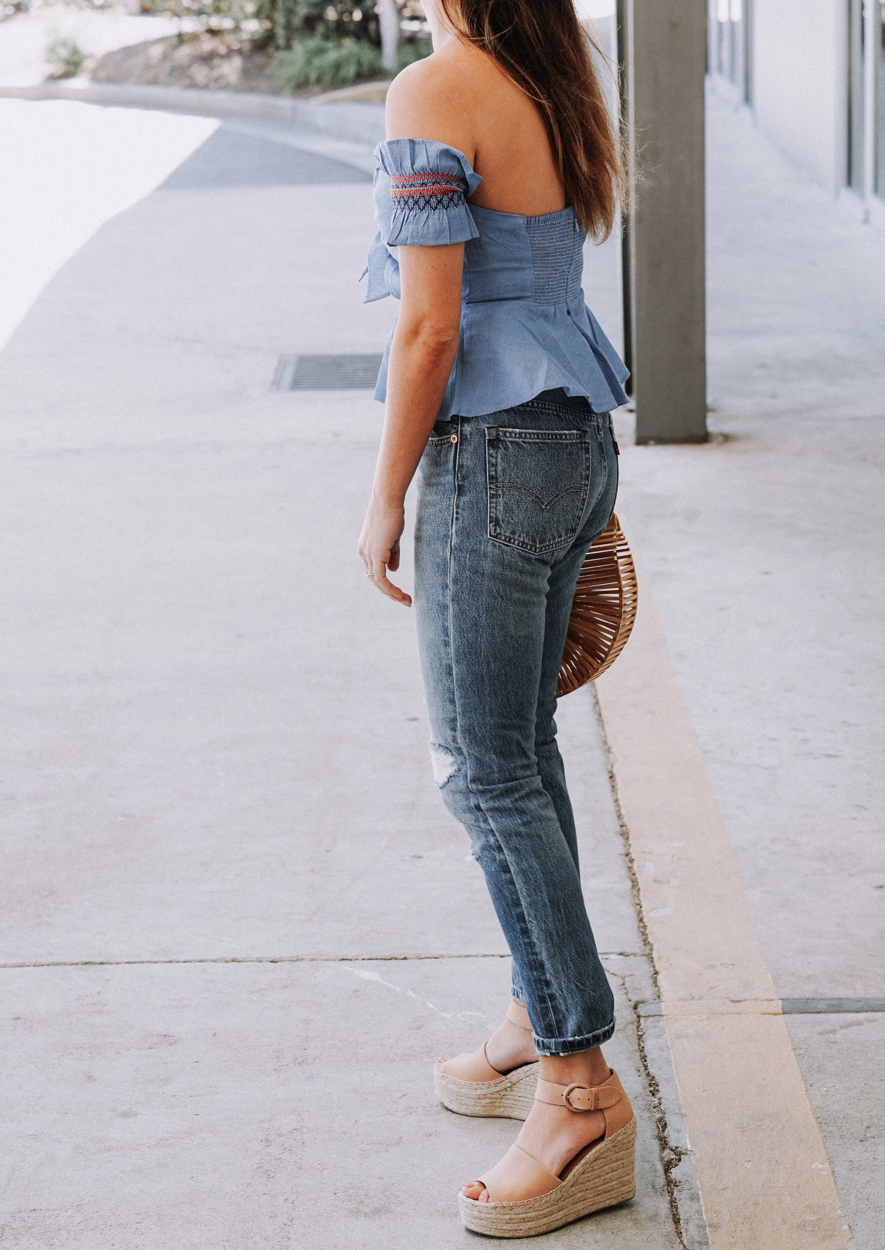23d25a40991 Wearing Lately Post 1 | My Style | Marc fisher wedges, Jeans, How to ...