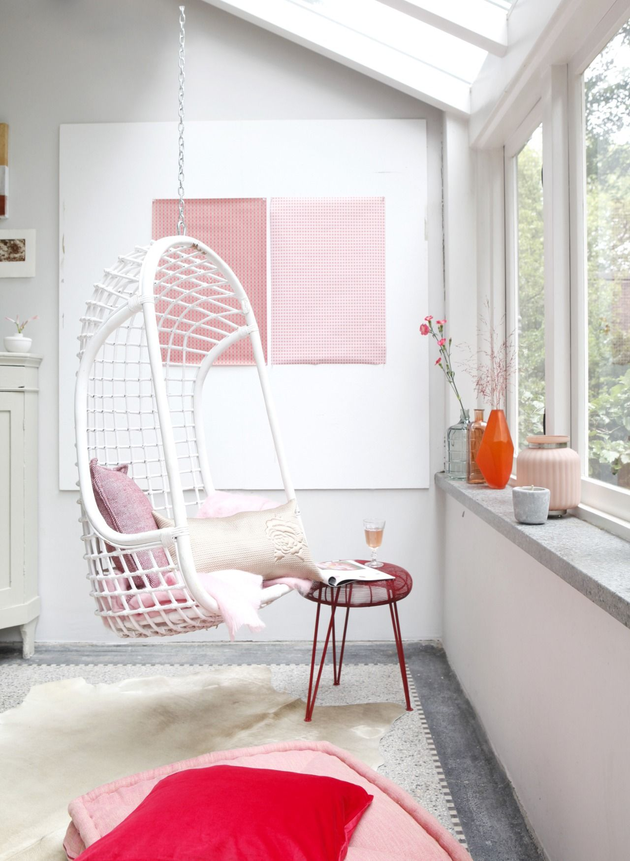 Hanging chair by kim timmerman décoration salon pinterest