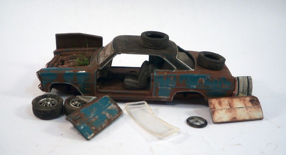 1967 Chevy Nova SS Custom Weathered Barn Find Junker Unrestored 1 64 Diorama M2