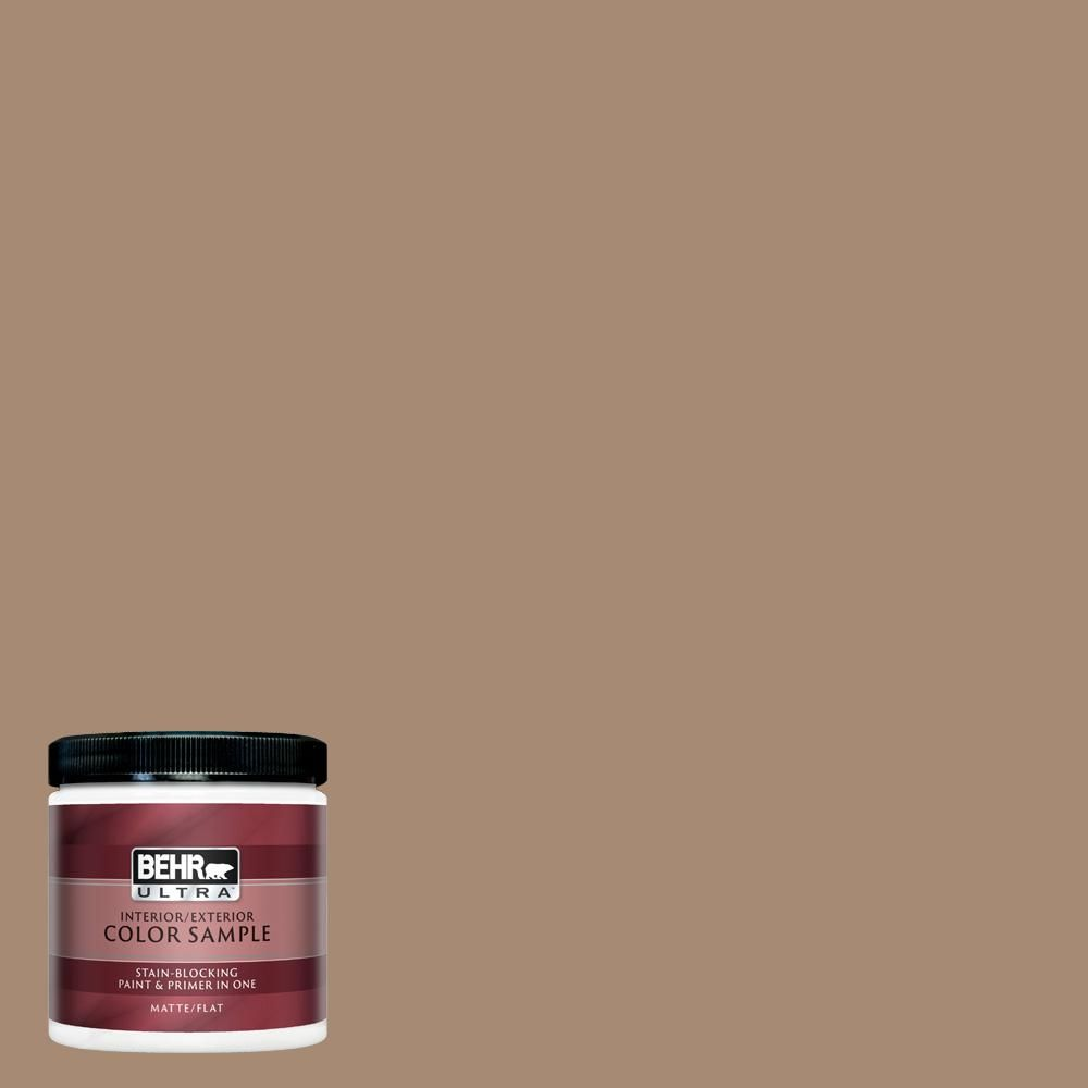 Behr Ultra 8 Oz N240 5 Rodeo Tan Matte Interior Exterior Paint And Primer In One Sample Exterior Paint Interior Paint Behr Marquee Paint