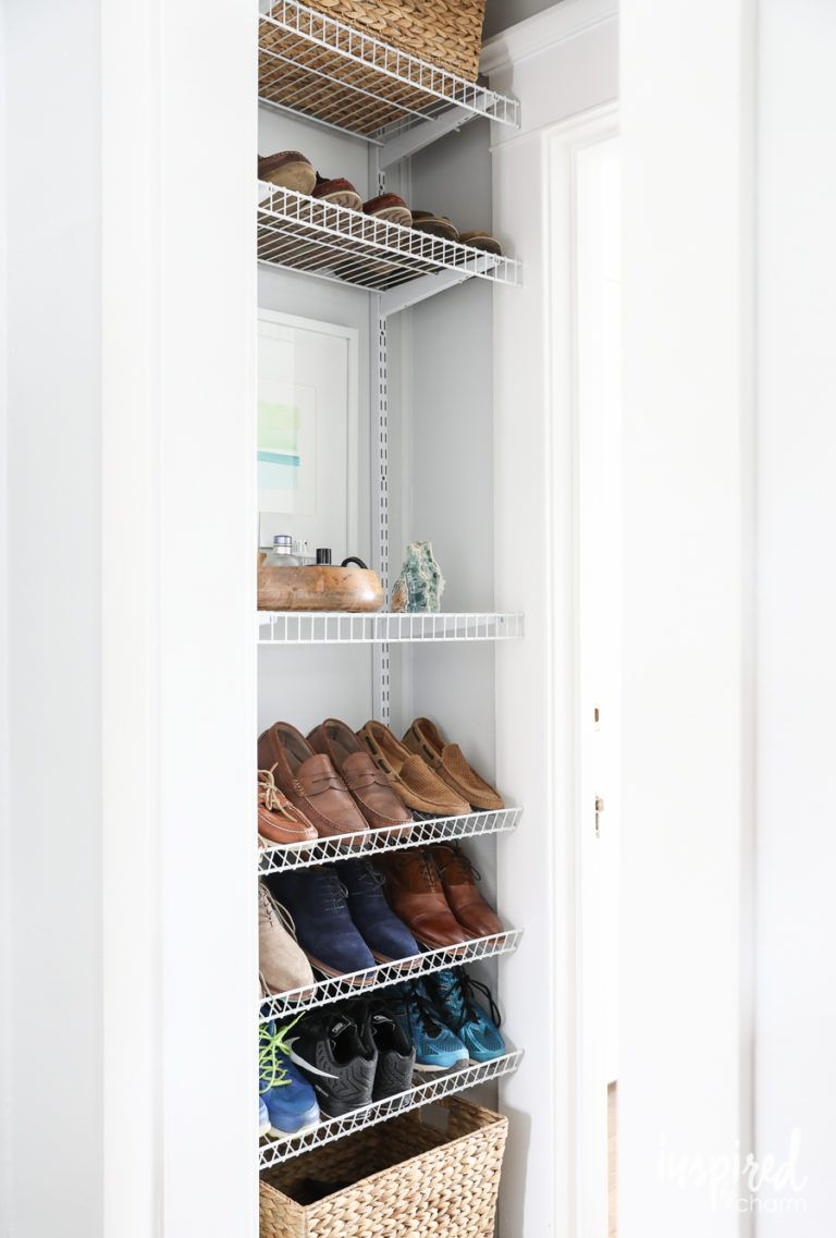 8b99e91a799 DIY Custom Shoe Storage - how to organize your shoes in an unused space.