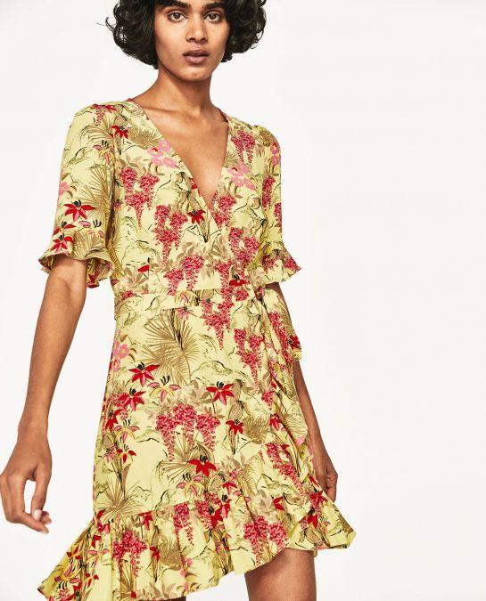 How To Spot A Zara Floral Dresses Printed Wrap Dresses Floral Print Dress