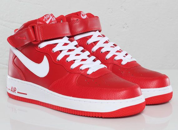 Nike Air Force 1 Mid - Sport Red