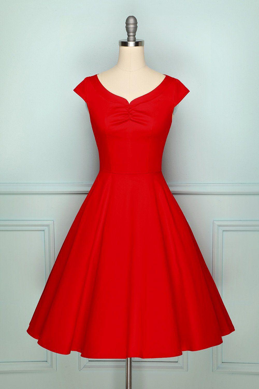 1950s Red Dress In 2020 Vintage Red Dress Burgundy Satin Dress Burgundy Bridesmaid Dresses Long [ 1500 x 1000 Pixel ]