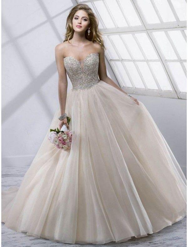 Beaded Bodice Wedding Gowns