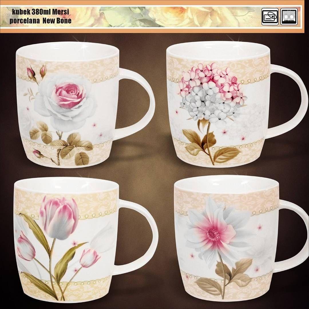 Kubek Mug Kwiaty Flower Merci New Bone Porcelanaveroni Veroni Goodmorning Dziendobry Kawa Caffe Cafe Www Veroni Com Pl Glassware Mugs Tableware