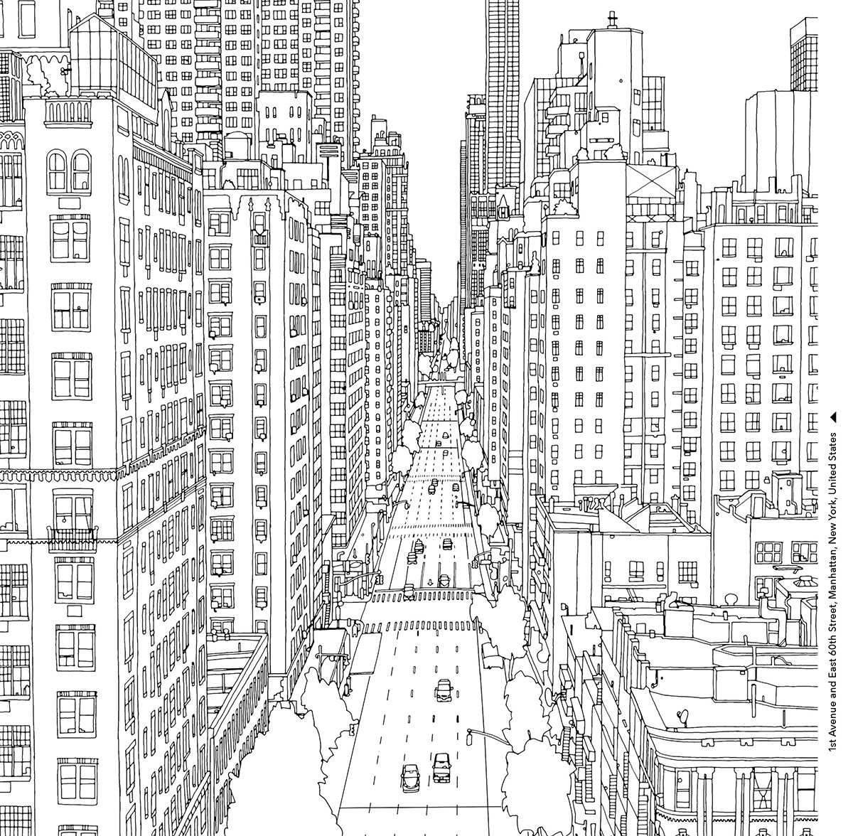 Fantastic Cities Adult Colouring Page