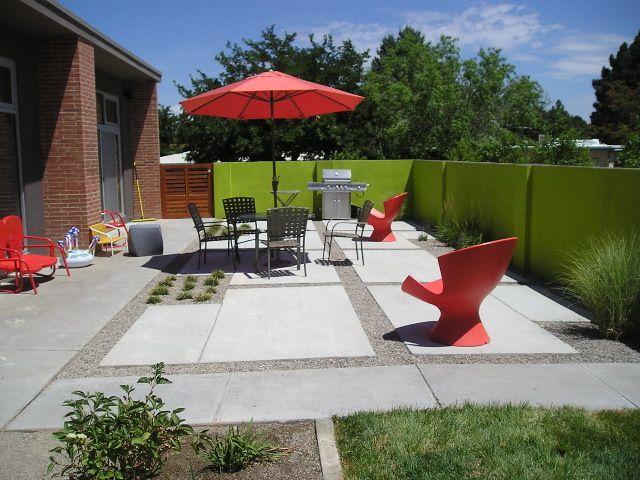 Mid Century Modern Landscape Albuquerque NM