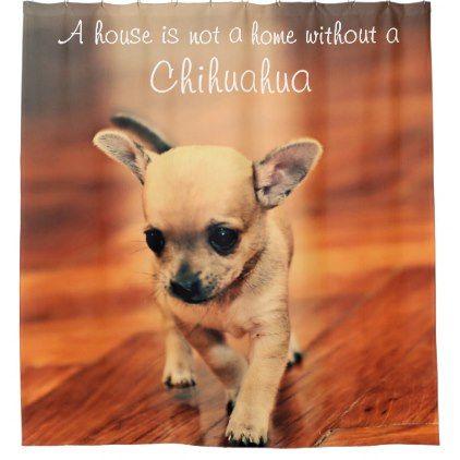 Chihuahua Shower Curtain Add Photo Zazzle Com Cute Dog
