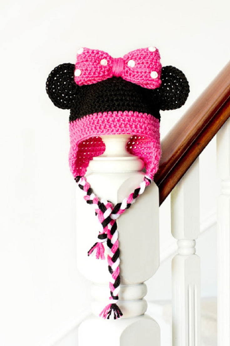 Minnie Mouse Inspired Baby Hat Crochet Pattern | Luer | Pinterest