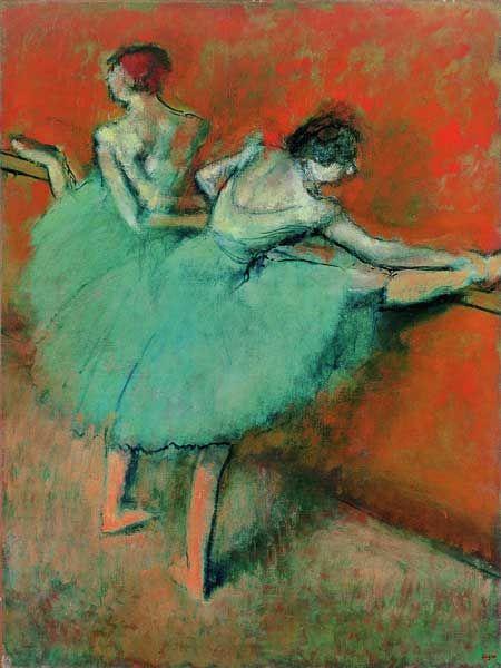 Danseuses la barre edgar degas peinture pinterest danseurs - Peinture les danseuses ...