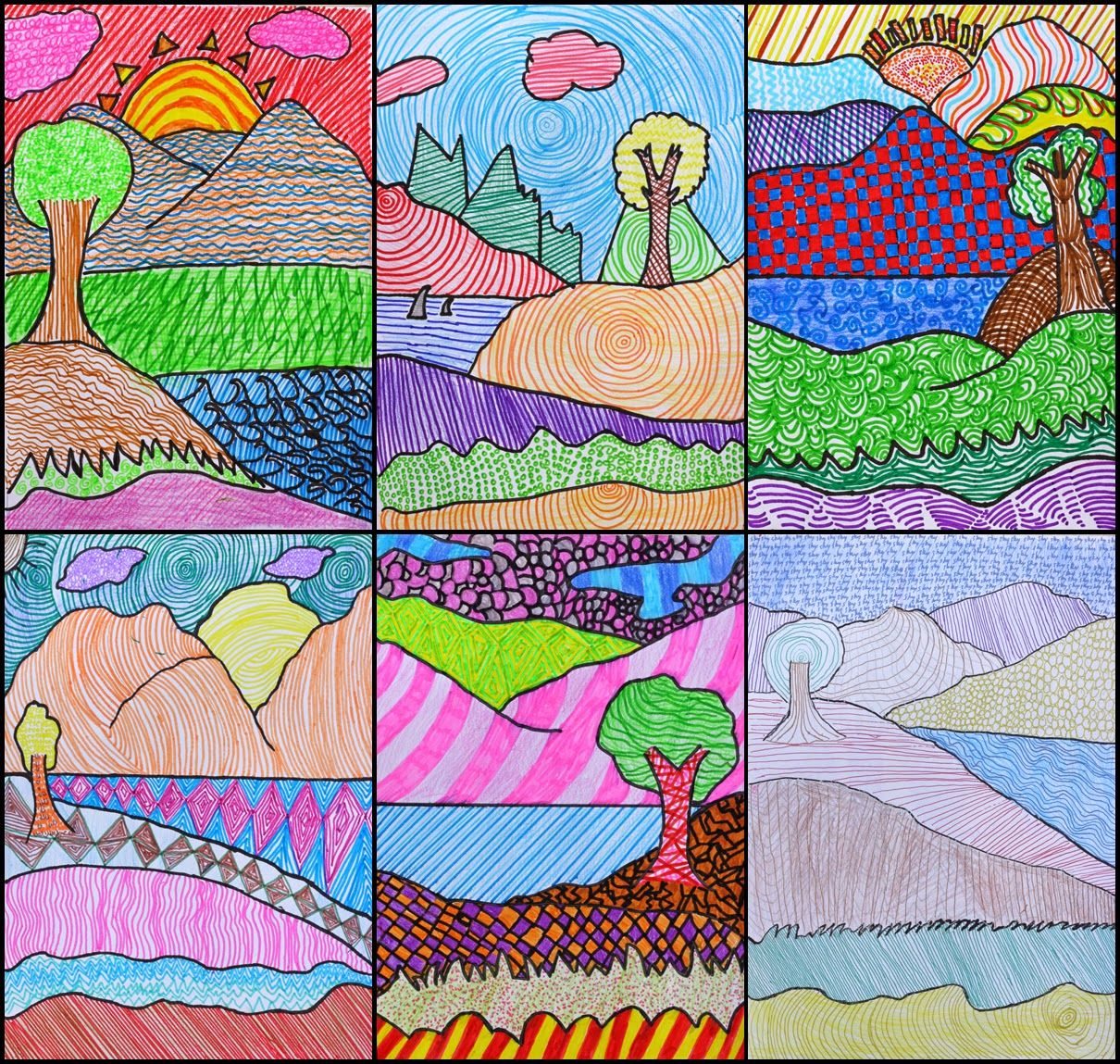 Textured Landscapes Art With Mr Hall Primary School Art