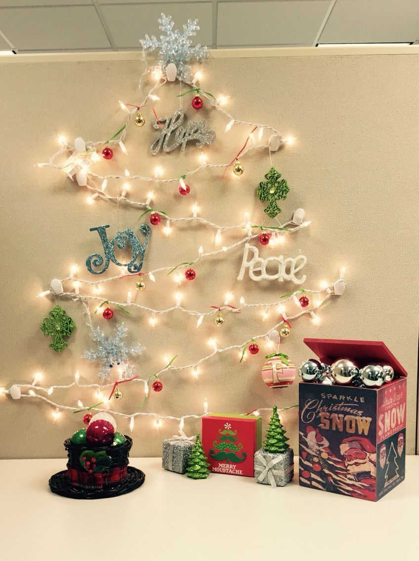 Christmas Office Decoration Ideas Nestled Try These Simple Small Desk Ide Christmas Cubicle Decorations Office Christmas Decorations Christmas Desk Decorations