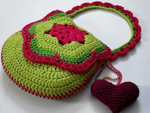 Crocheted Purse / Bag Pattern (Tutti Frutti No. tf-004) (Downloadable Digital Pattern - pdf)