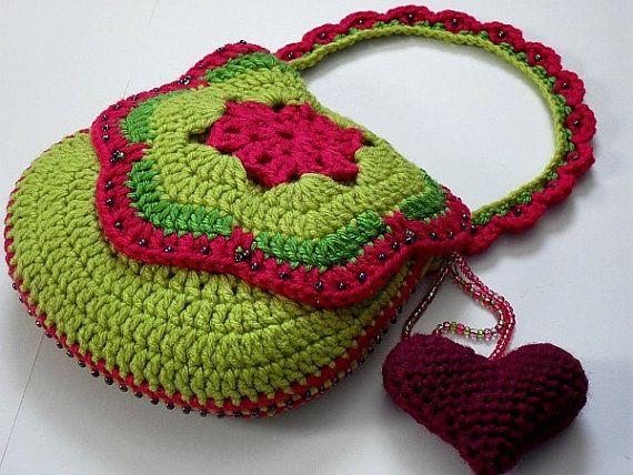 Crocheted Purse / Bag Pattern (Tutti Frutti No. tf-004) (Downloadable Digital Pattern - pdf)