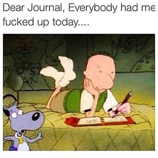 dd4ec95a3100350e4a2a536f79560edc dear diary doug meme google search assholes pinterest doug