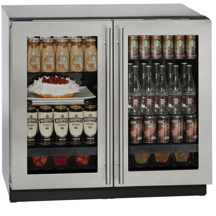 uline series 36 inch stainless steel framed glass door - Uline Wine Cooler