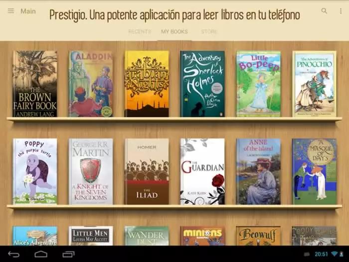 Prestigio Una Potente Aplicacion Para Leer Libros En Tu Telefono Apps Lector Ebooks Libros Para Leer Libros Leer