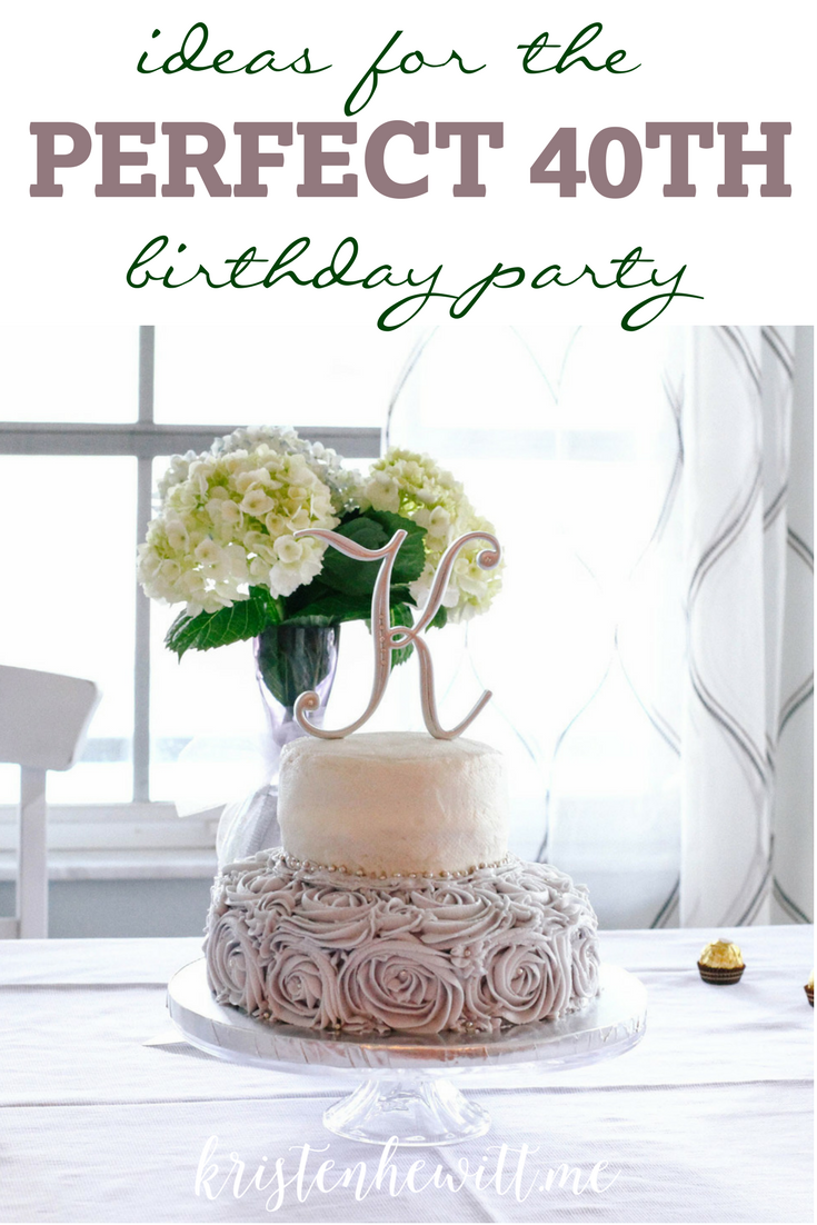 Ideas for a Big Celebration | 40th birthday parties, Super excited ...