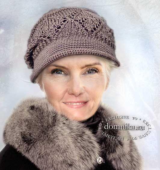 Вязаные шапки и береты для женщин 60 лет - схемы вязания ...