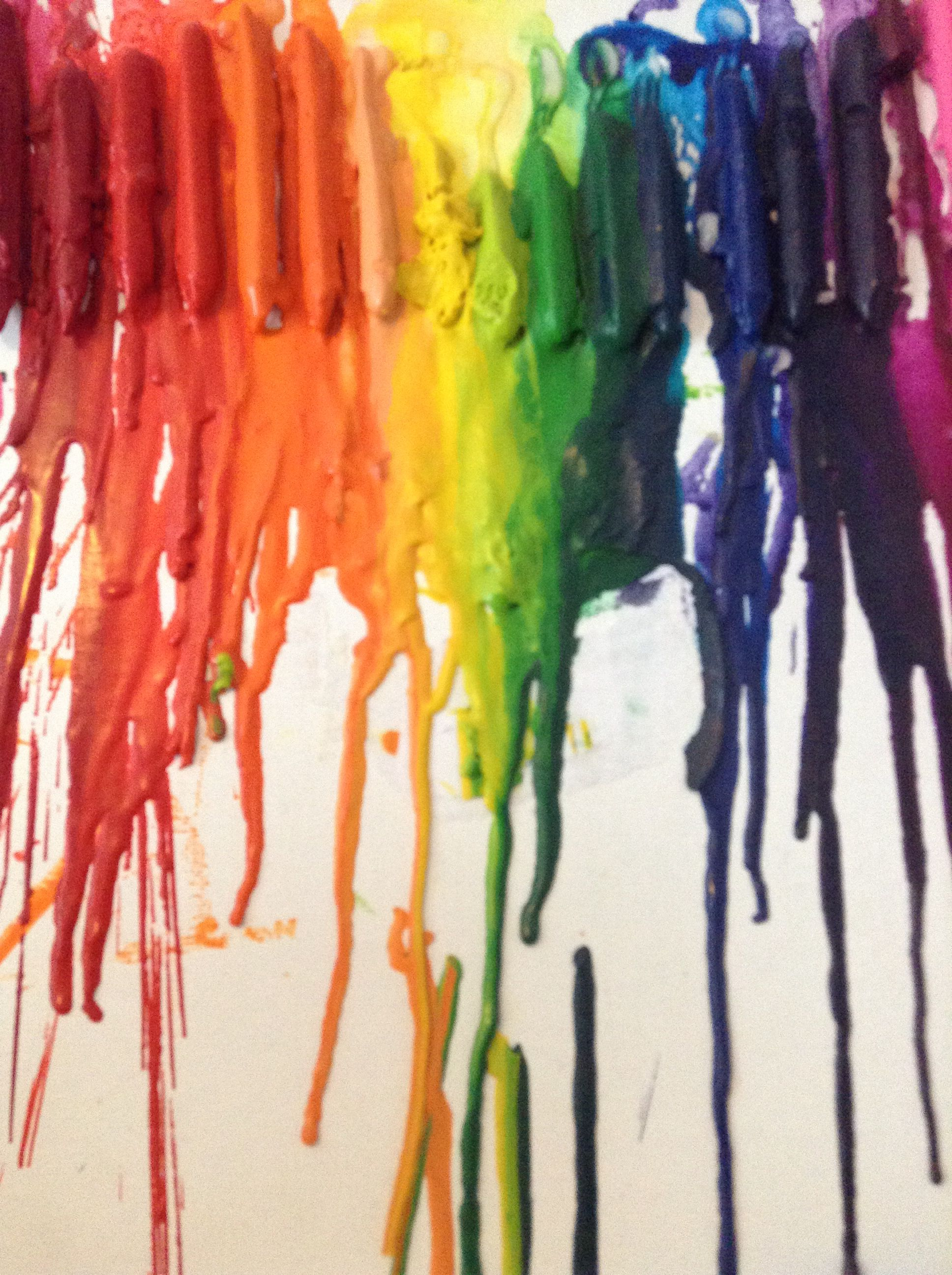 Easy melted crayon art