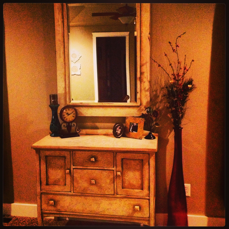 Master bedroom antique redo