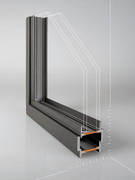 Porta finestra a taglio termico con doppio vetro in acciaio ferrofinestra by mogs serramenti - Porta finestra doppio vetro ...