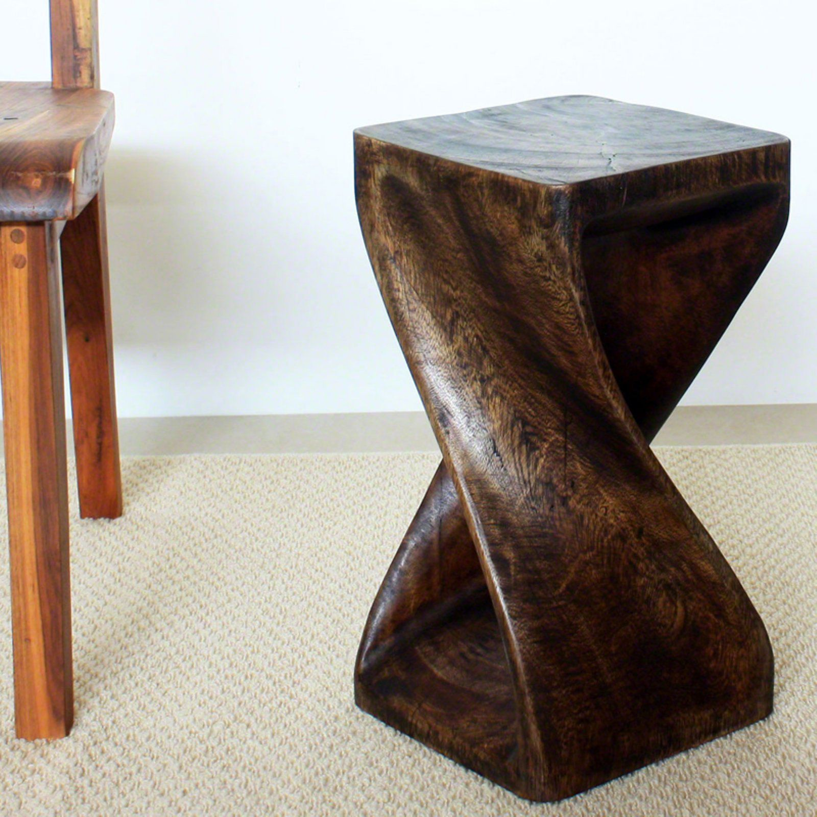 Strata Furniture 18 In Wood Twist End Table In 2021 Side Table End Tables Diy End Tables