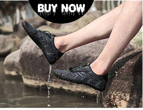 UBFEN Mens Womens Water Shoes Aqua Shoes Swim Shoes Beach Sports Quick Dry Barefoot for Boating Fishing Diving Surfing with Drainage Driving Yoga