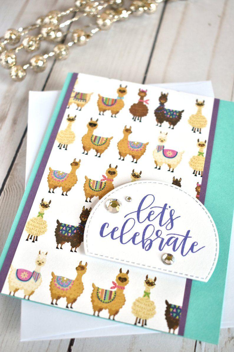 Llama Card Best Friend Birthday Card Handmade Celebration