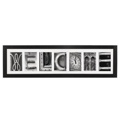 Imagine Letters 7 Opening 4 In X 6 In White Matted Black Photo