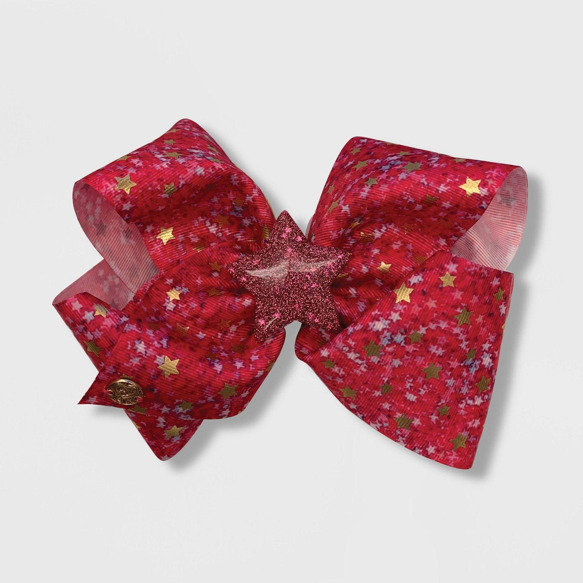 Girls Jojo Siwa Fuchsia Stars Bow Hair Clip Girl S Pink Bow