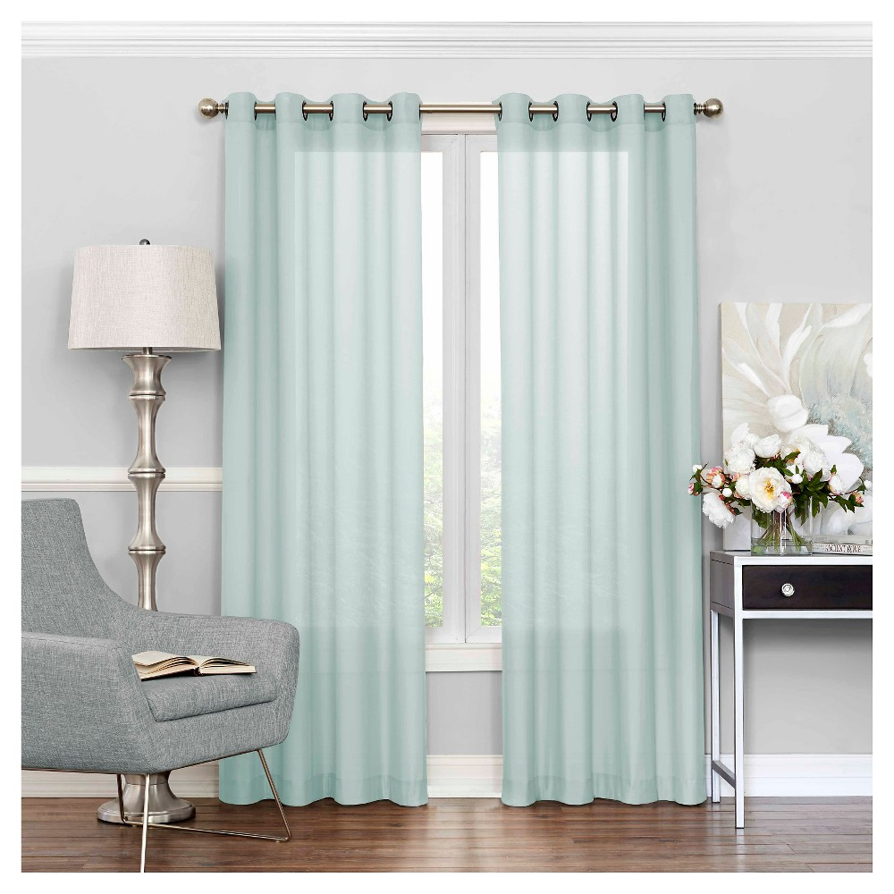 Liberty Light Filtering Sheer Curtain Blue 52x108 Eclipse