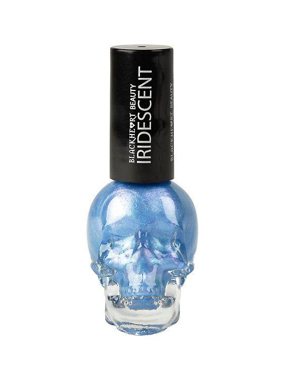 Blackheart Beauty Blue Iridescent Nail Polish | Iridescent nail ...