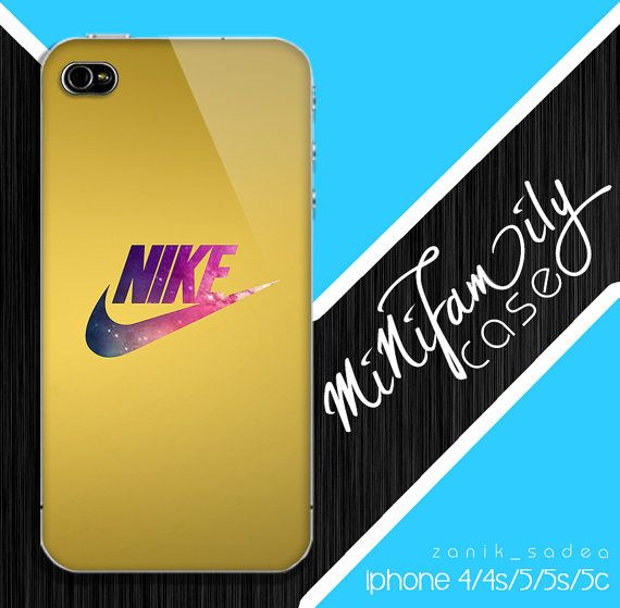 nike gold case galaxy iphone case iphone 4 case by minifamilycase, $14.99