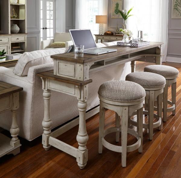 Liberty Furniture Industries Morgan Creek Console Table With Stools Big Bear Storesl Liberty Furniture Furniture Console Table