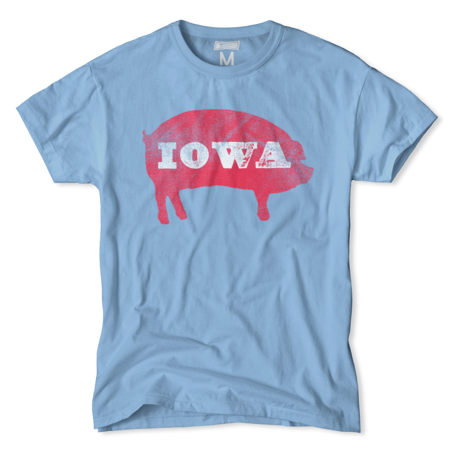 T shirt design quad cities - Iowa Pig T Shirt By Tailgate