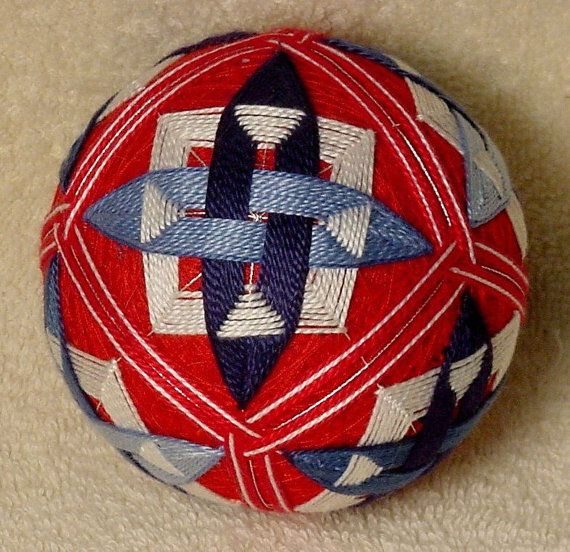 Etsy の Japanese Temari Ball by BethsTemariBalls