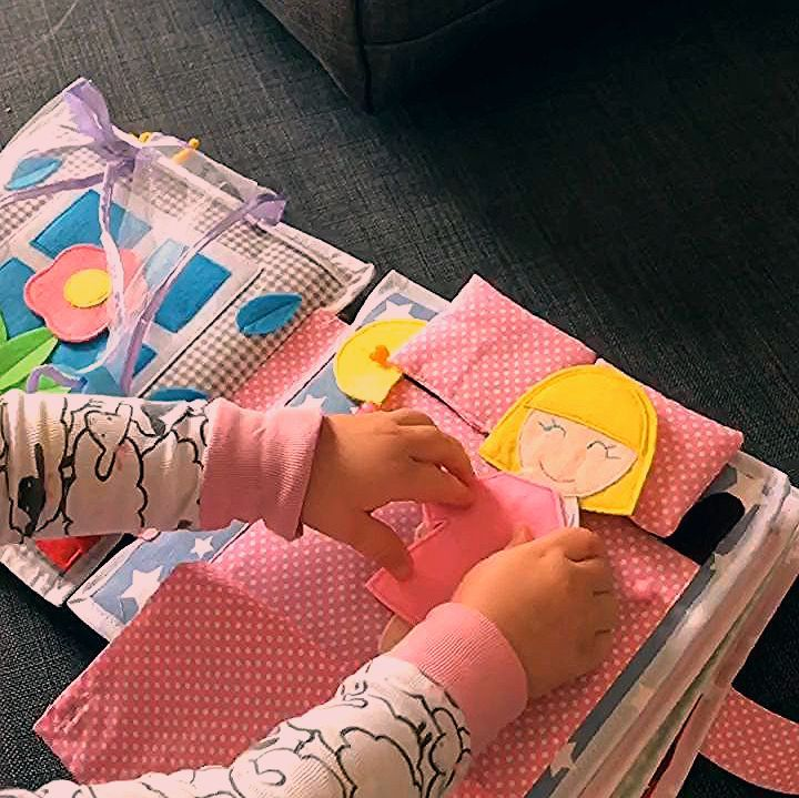 Photo of Pikabook my dolly, busy felt book, interactive sensory book