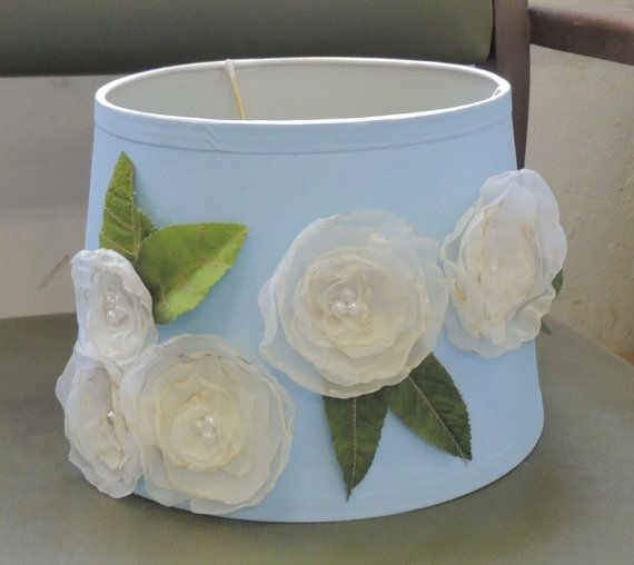 Shabby Chic handmade lampshade Drum style Any by MillCreekArts, $40.00